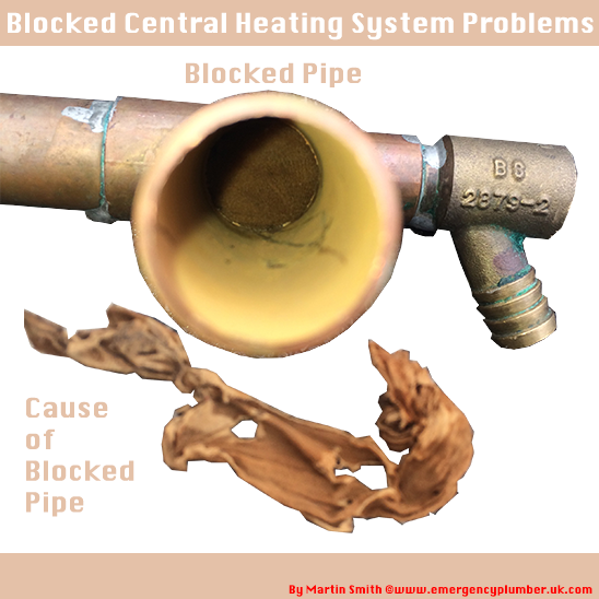 Blocked Central Heating Pipe