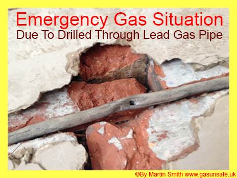 Drilled Through Lead Gas Pipe