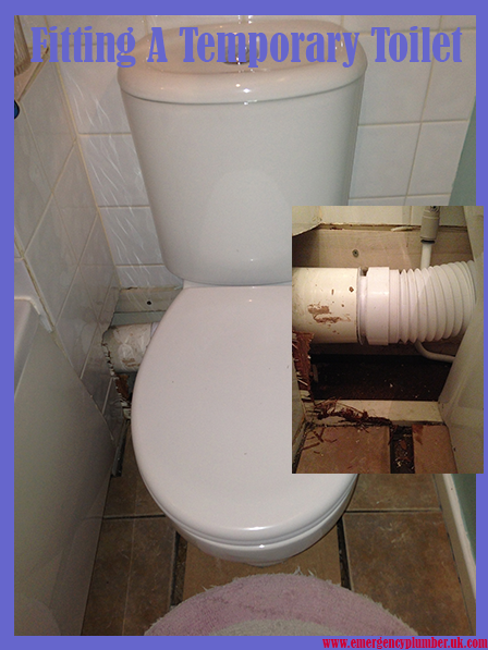 Fitting Temporary Toilet