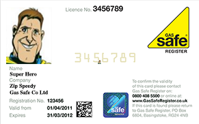 Gas Safe Engineer Card