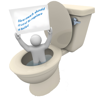 How much should it cost to replace a toilet