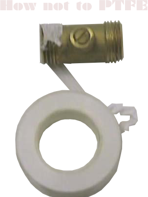 How not to fit a compression fitting with PTFE