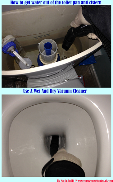 How To Get Water Out Of Toilet Pan And Cistern