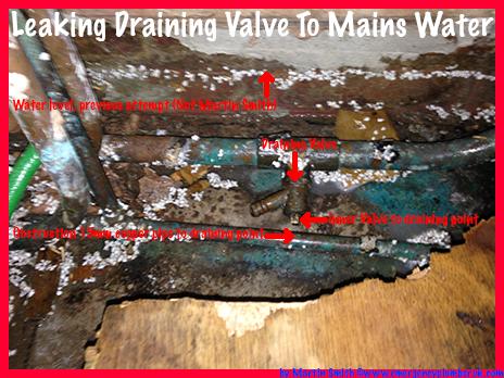 Leaking Draining Valve To Mains Water Supply