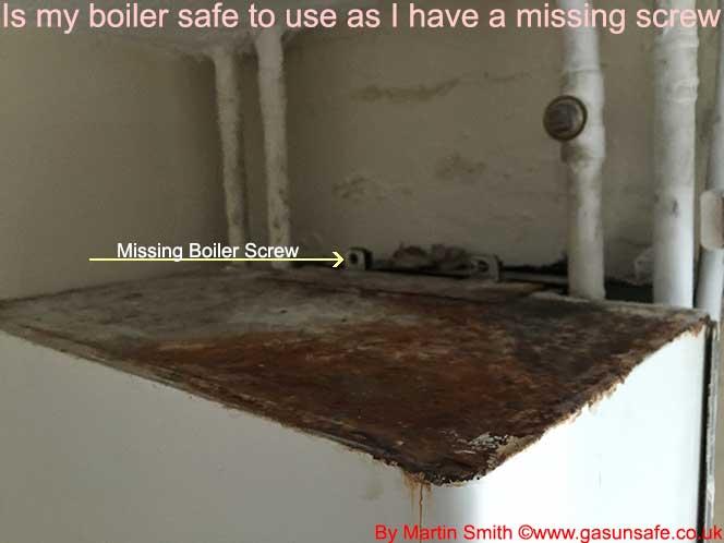 Missing Boiler Screw