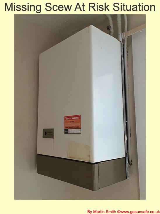 Missing Boiler Screw At Risk Situation