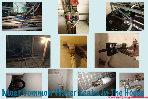 Most Common Water Leaks In The House