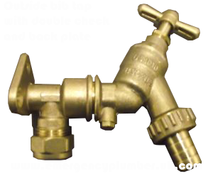 Outside Bib Tap with back plate and double check valve
