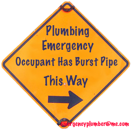 Plumbing Emergency Burst Pipe