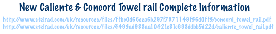 Stalrad Calient Concord Towel Rail Information